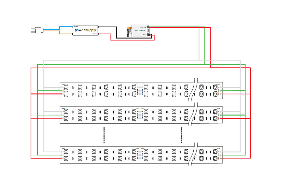 car led strip wiring diagram about 3528 240 led w+ww double color led strips - bengi led strip wiring